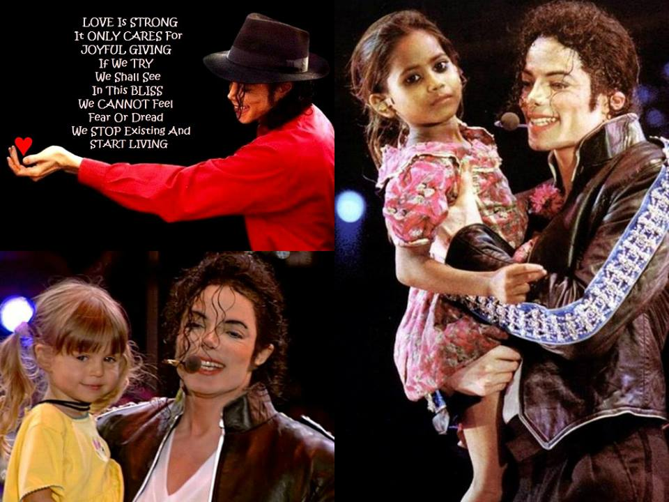 MJ All for Love met kids