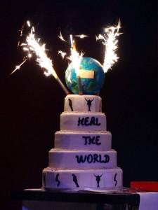 MJ Birthday taart met vuurwerk 29 08 2015
